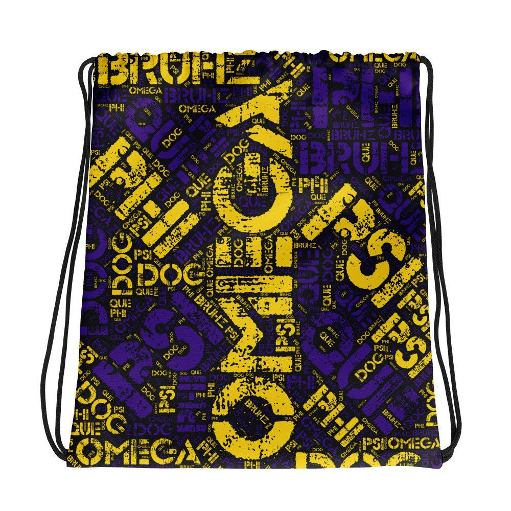 0a5eccd93607 Omega Atomic Que Psi Phi-Custom Limited Edition Drawstring Gym Bag ...