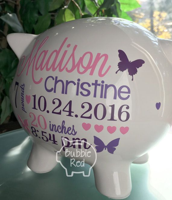Personalized piggy bank this little piggy bank makes for a beautiful personalized piggy bank this little piggy bank makes for a beautiful unique baby gift imagine the proud new parents faces as they open this pers negle Choice Image