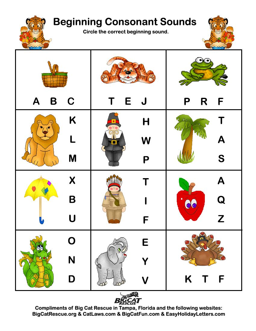 Free Worksheet Beginning Sounds Worksheet freethanksgivingworksheets thanksgiving printable educational beginning sounds carol colegrove pinterest sounds