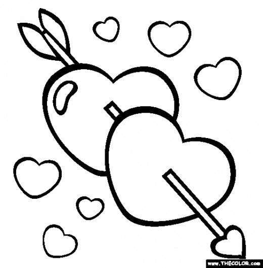100 Pictures Of Hearts Heart Images Symbol Of Love Heart With Arrow Online Coloring Pages Valentines Day Coloring Page