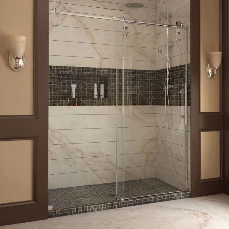 Duschabtrennung aus Glas mit Schiebetüren \u2013 4 moderne Duschkabinen - schiebetüren für badezimmer