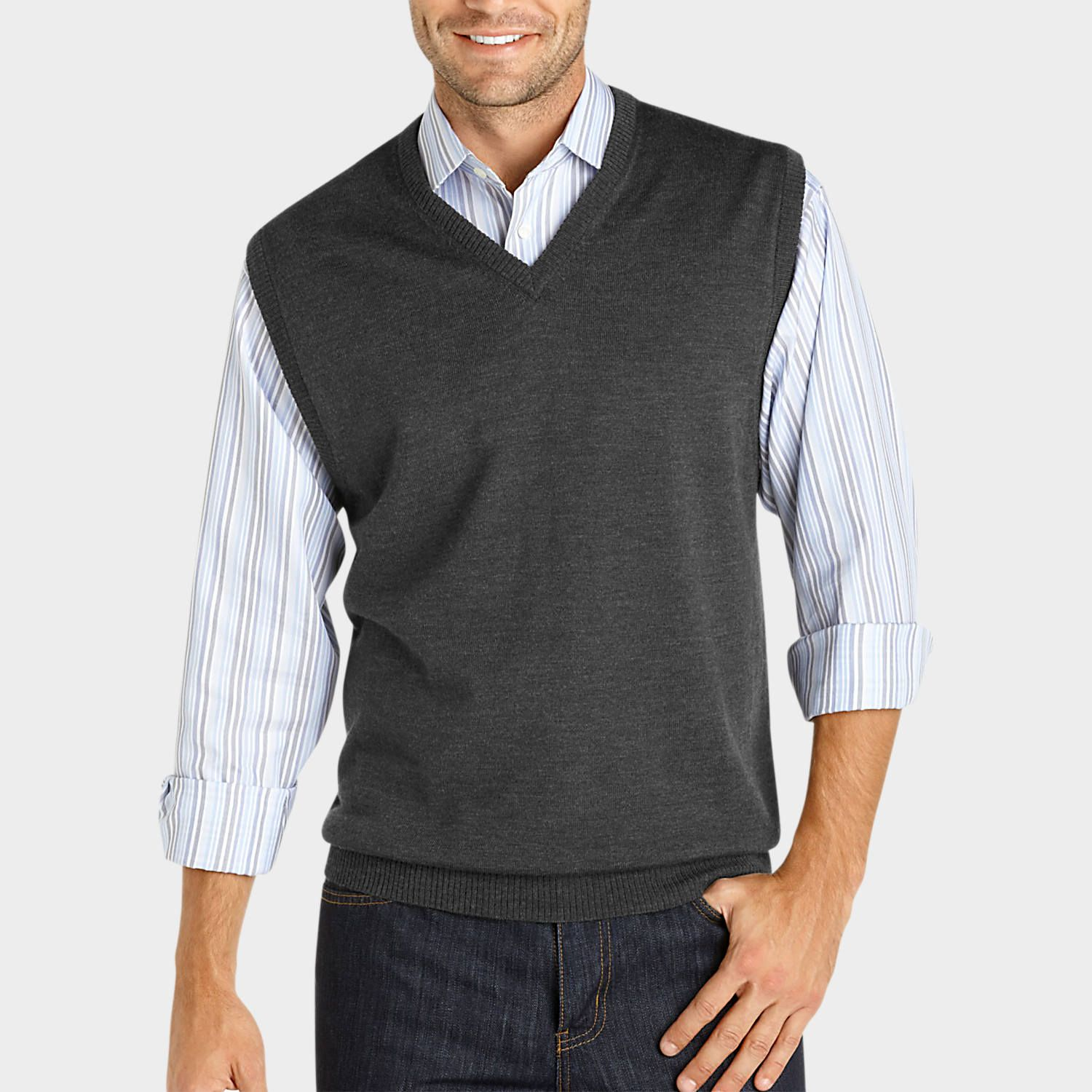 Buy a Pronto Uomo Charcoal Merino Vest Sweater and other Sweater ...