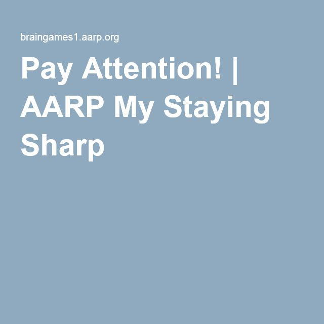 Staying Aarp Words My Split Sharp