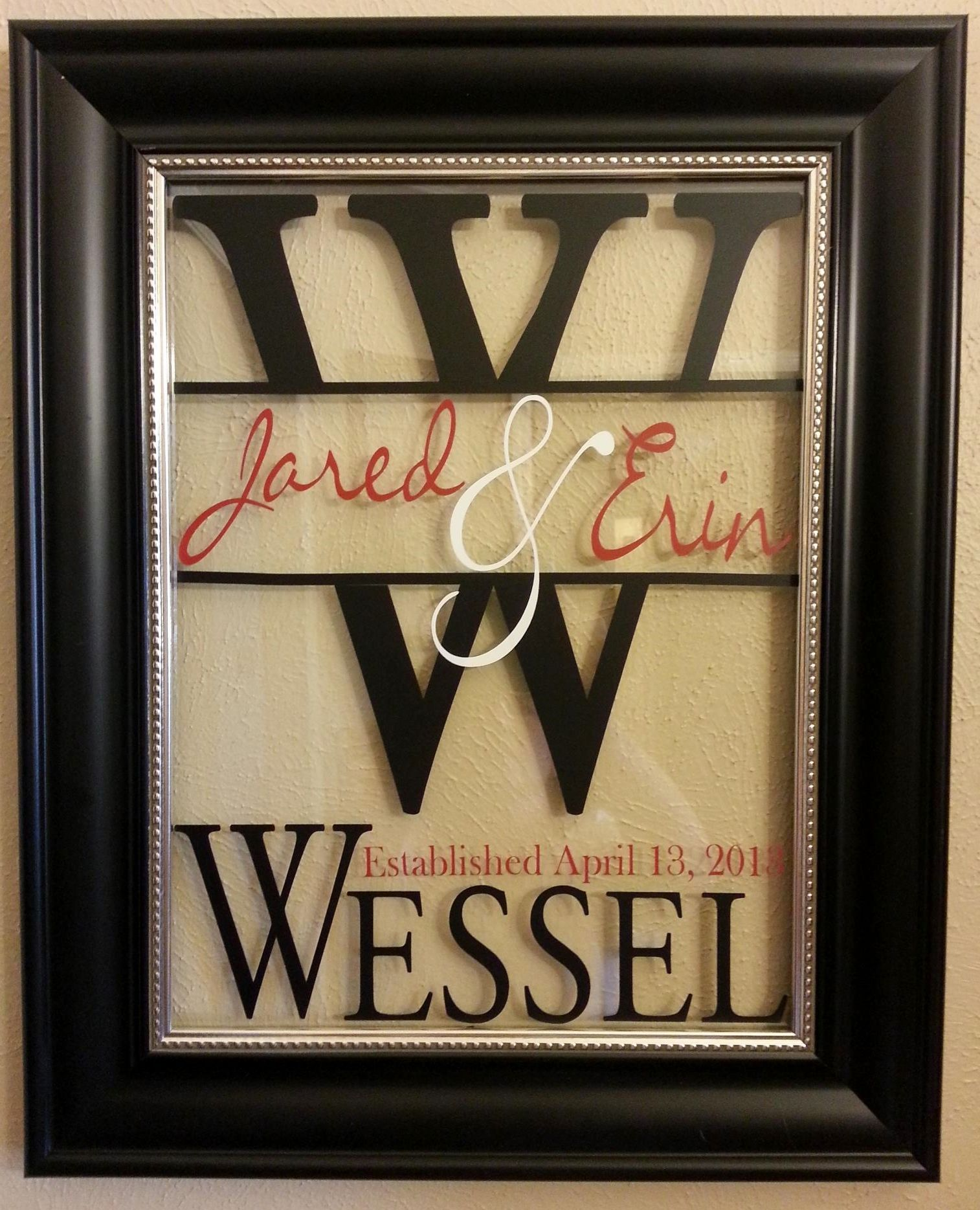 Wedding gift... I picked up this frame from Hobby Lobby