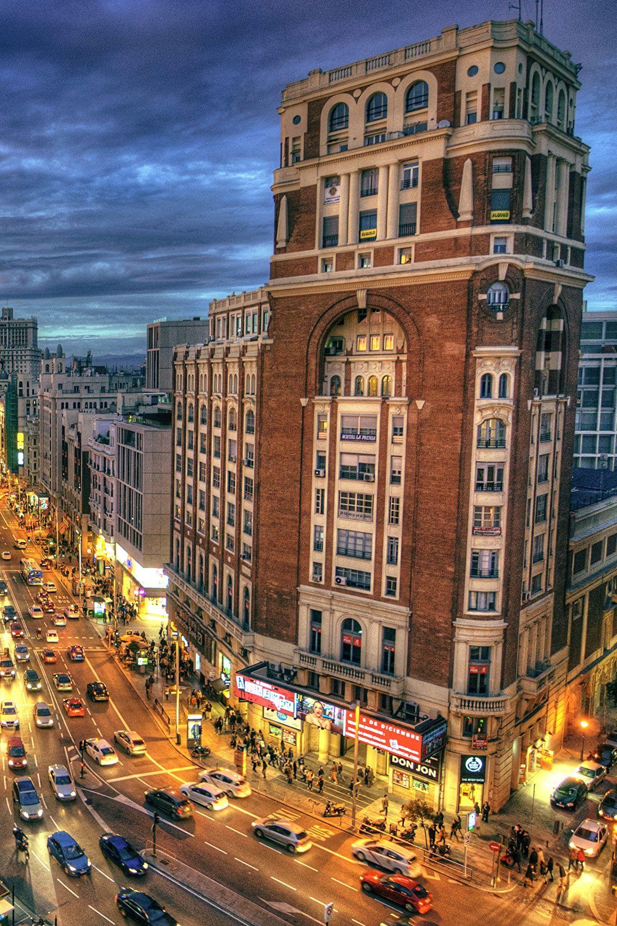 Gran Via Madrid Spain The Man Spain Countries Of The World Madrid