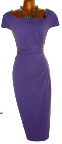 Gorgeous L.K.BENNETT Davina Ruched Wiggle Pencil Dress UK 10. The same one as worn by Kate, the Duchess of Cambridge, this time in a gorgeous dark purple. Simply Lovey!
