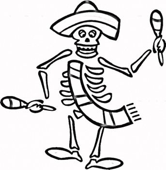 Dia De Los Muertos Coloring Pages | Spanish Holiday ...