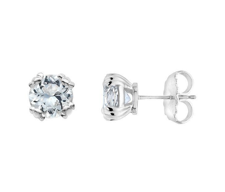 Slane Calypso Sterling Silver White Topaz Stud Earrings Jewelry