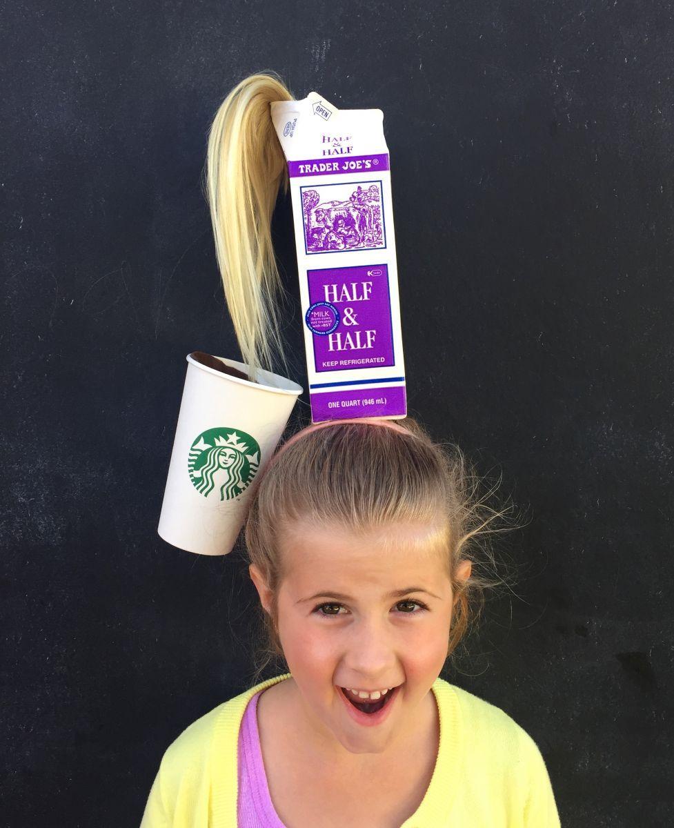 Cool Diy Hair: Crazy Hair Day #Starbucks Hair Via Lilyshop By Jessie Daye