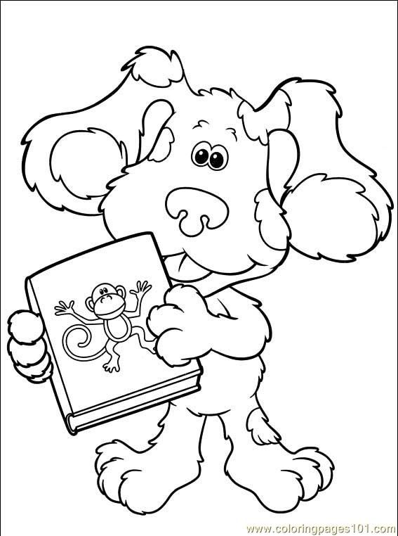 Blues Clues 026 4 Coloring Page Free Printable Coloring Pages Toddler Coloring Book Minion Coloring Pages Cartoon Coloring Pages
