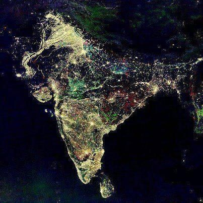 This is how our India Look Like from Space on Diwali Night. On This Diwali Send Sweets and Gifts to your Friends and Relatives With Unique Air Express