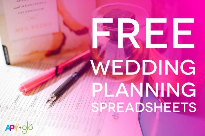Customizable (And Free) Wedding Spreadsheets Wedding Planning
