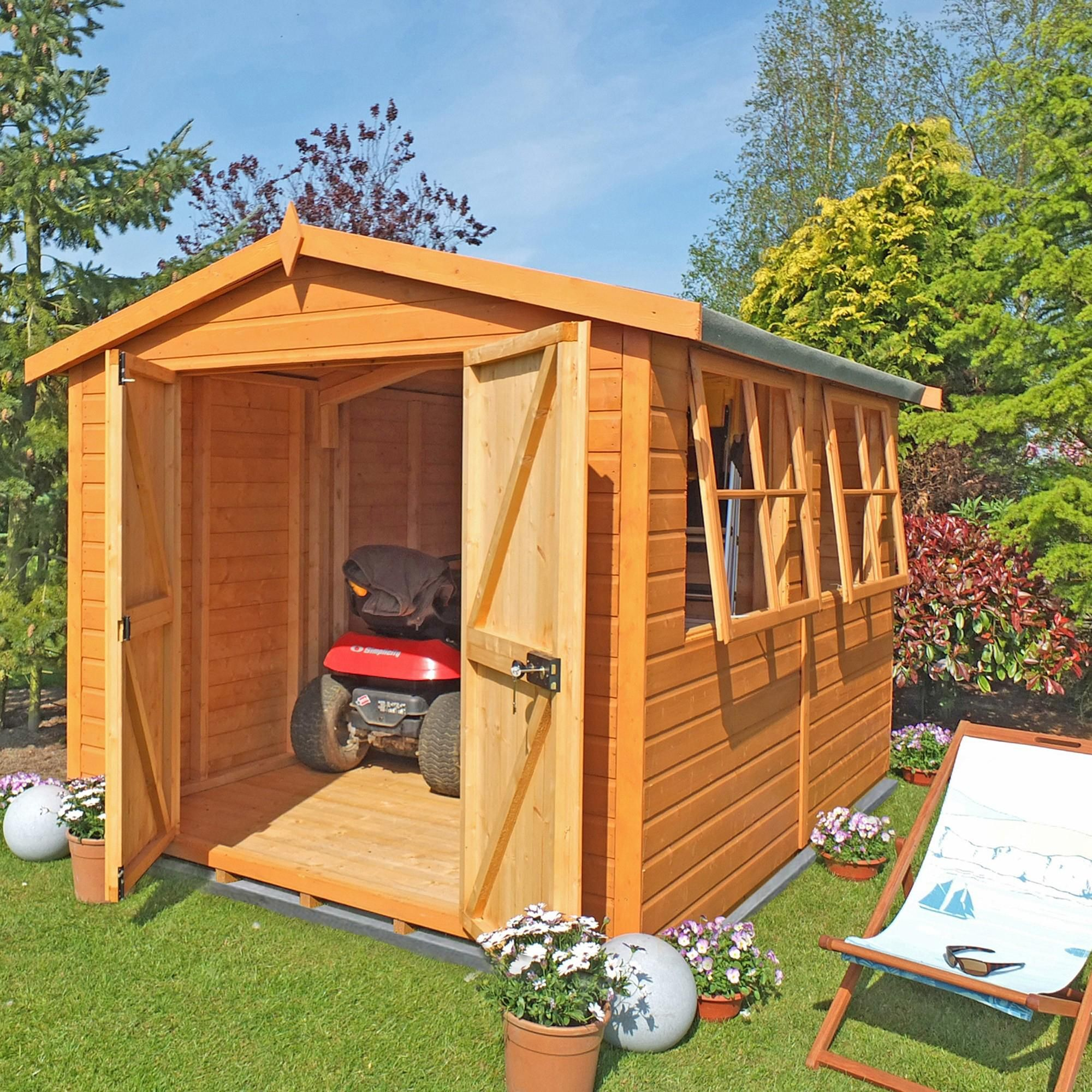 Stripe Wood Natural Bison 14ft X 8ft Heavy Duty Apex Shiplap Shed At Dunelm Shed Shiplap Sheds Wooden Sheds