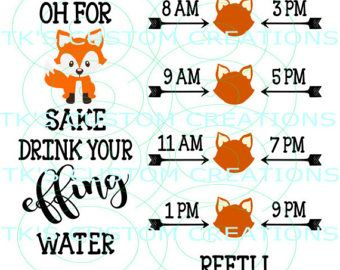 Oh For Fox Sake Drink Your Effing Water Motivational Water Fox Sake Easy Diy Crafts Diy Crafts To Sell