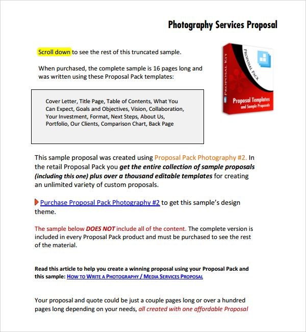 sample service proposal template sample photography proposal template free documents in pdf word