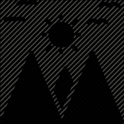 Hills Hilly Area Mountain Range Mountains Valley Icon Download On Iconfinder Icon Mountain Range Glyph Icon