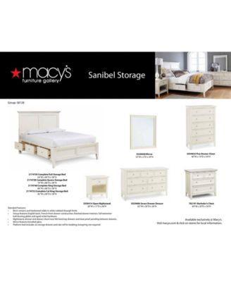 Sanibel Storage Platform Bedroom Furniture Collection ...