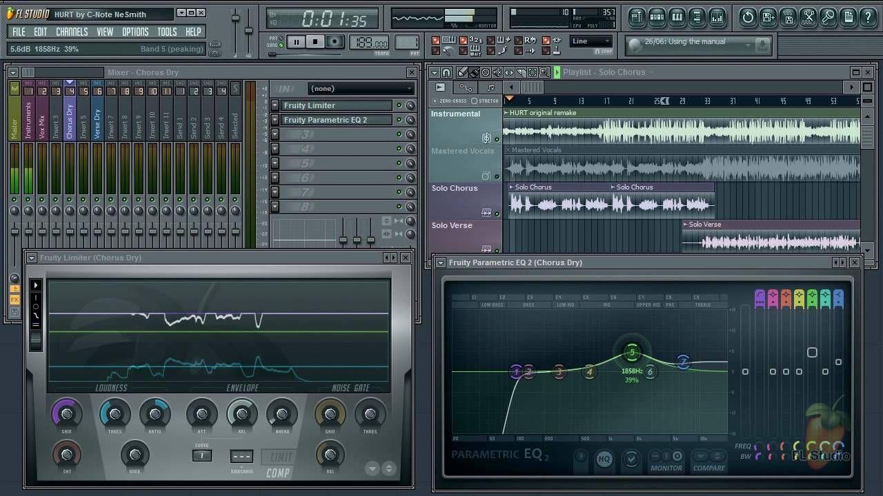 Fl studio guru vocal mixing compression eq