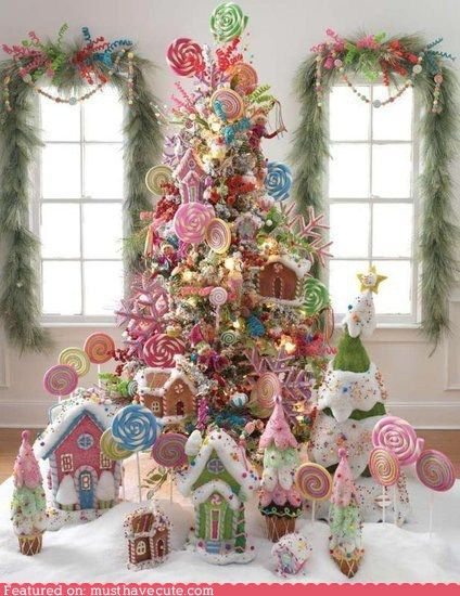Candy tree for dining table Kittens Christmas, Christmas