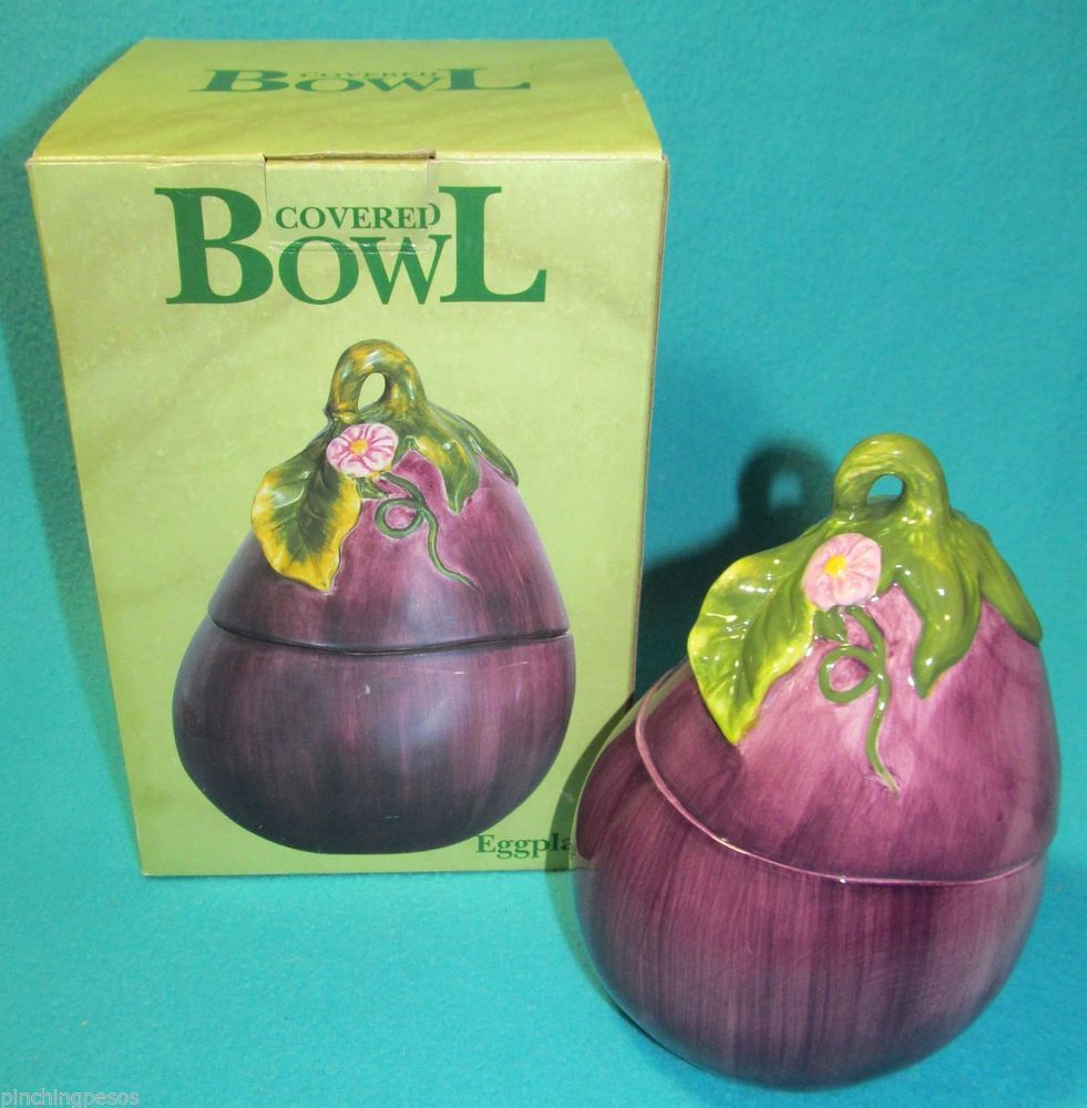Wonderful Certified International Covered Eggplant Bowl Dish Vegetable #decor. Kitchen  ...