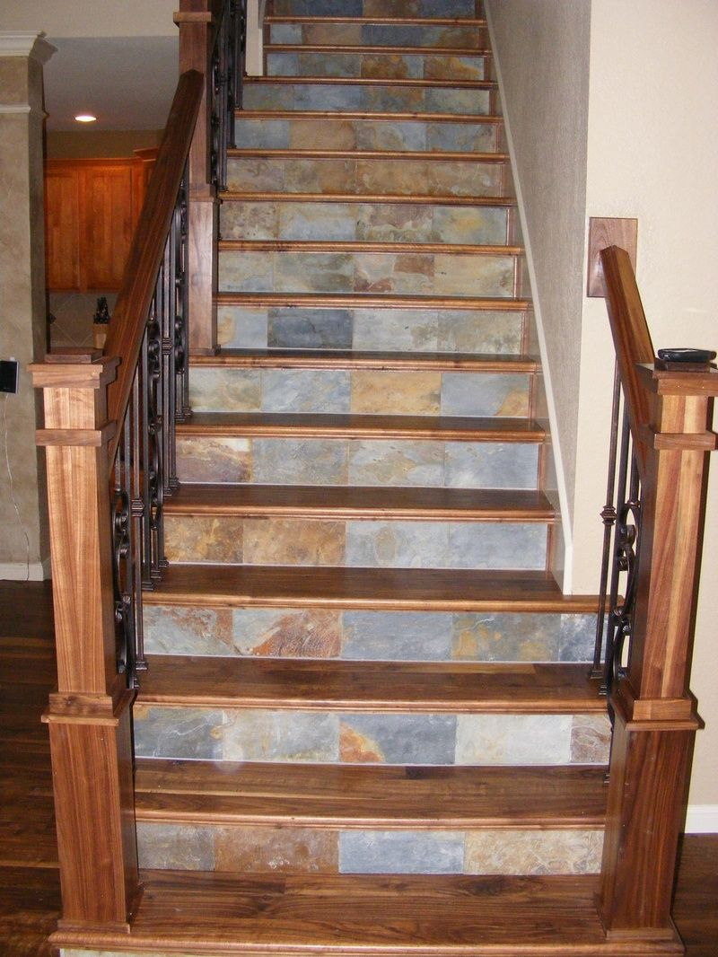 Cool Stairway Idea For Leftover Stone Stair Remodel