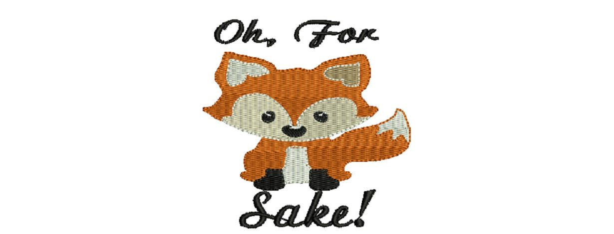 Oh For Fox Sake Machine Embroidery Design By Threegoatcreek On Etsy Machine Embroidery Designs Embroidery Designs Machine Embroidery