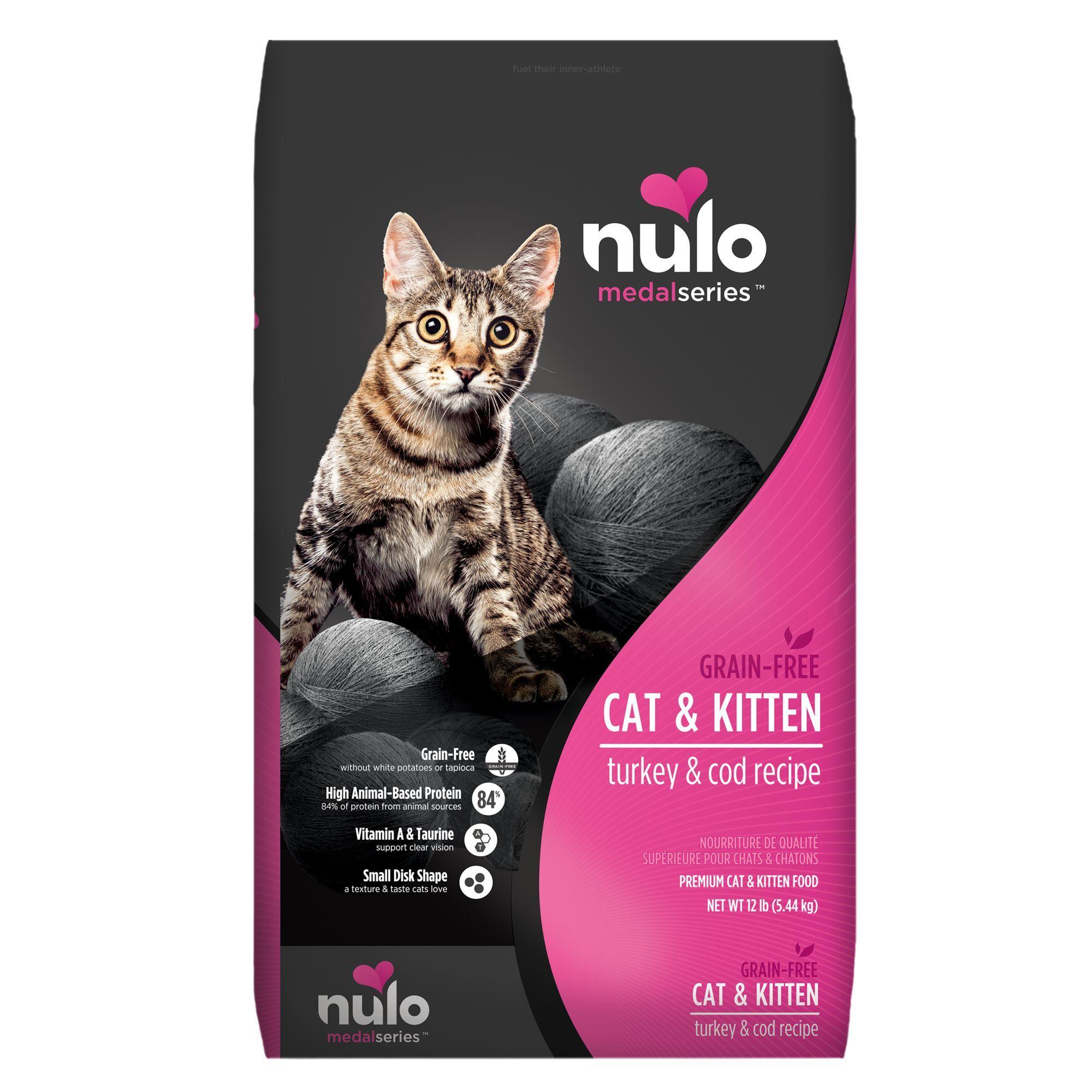 Nulo Medalseries Cat Kitten Food Grain Free Turkey Cod In 2020 Kitten Food Grain Foods Best Cat Food