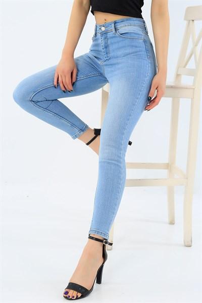 44 95 Tl Yuksek Bel Acik Mavi Bayan Kot Pantolon 31356 Modamizbir 2020 Pantolon Kotlar Mankenler
