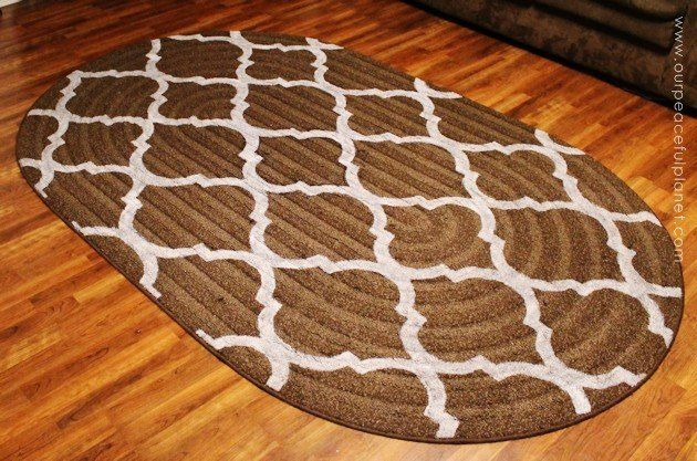 How To Stencil Paint Carpet Painted Rug Painting Rugs