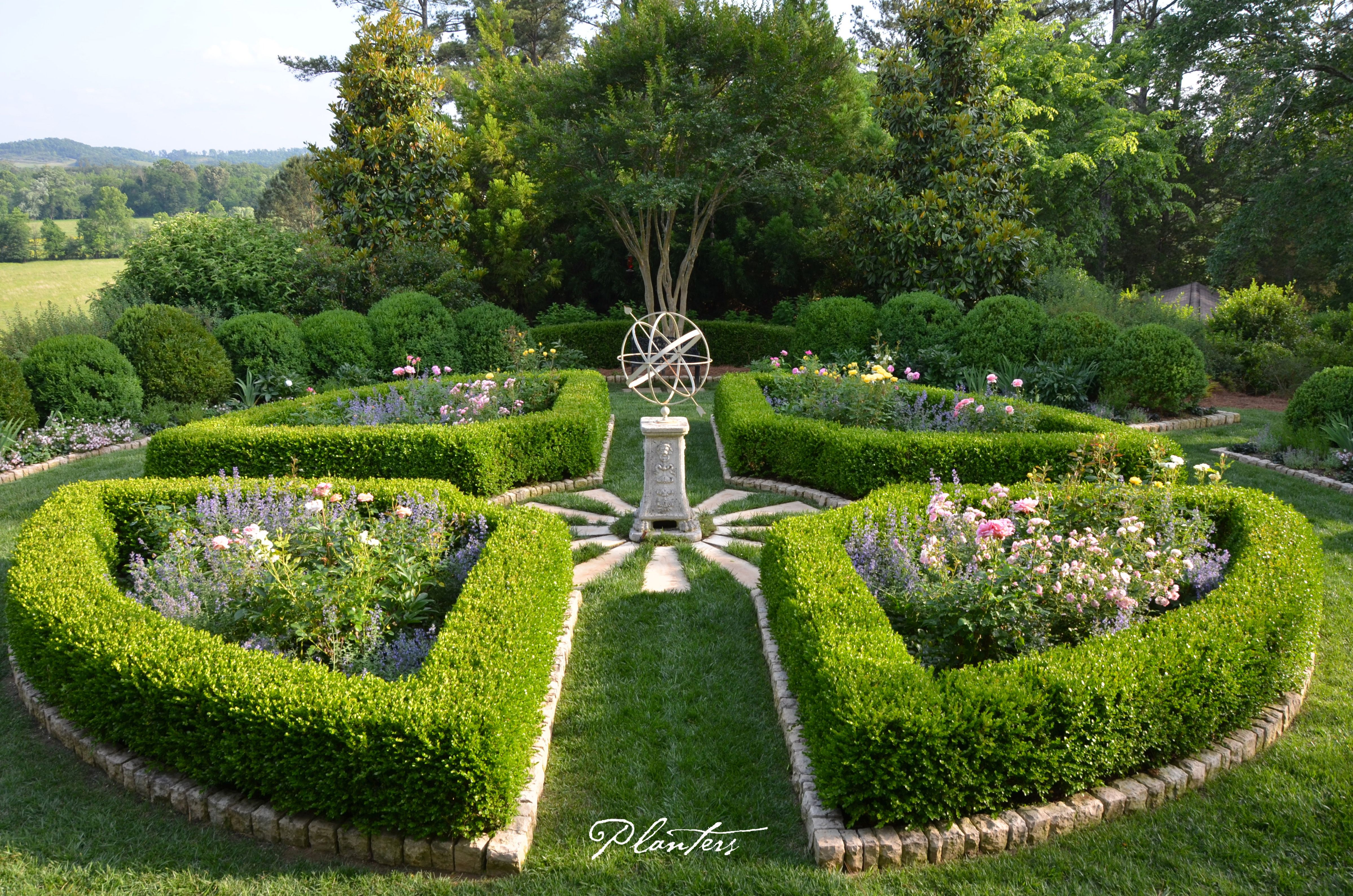 Parterre Rose Garden With Armillary Sphere A Planters 400 x 300