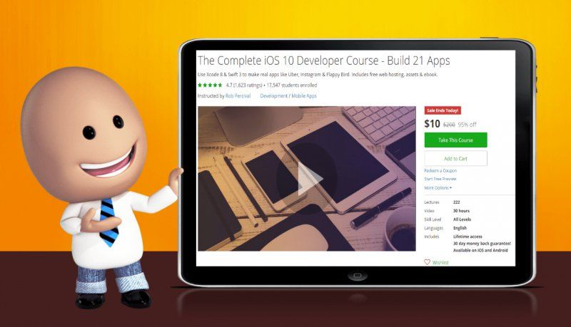 [95% Off] The Complete iOS 10 Developer Course - Build 21 Apps| Worth 200$