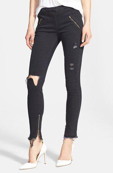 RtA 'Mila' Destroyed Skinny Jeans (Thunder)