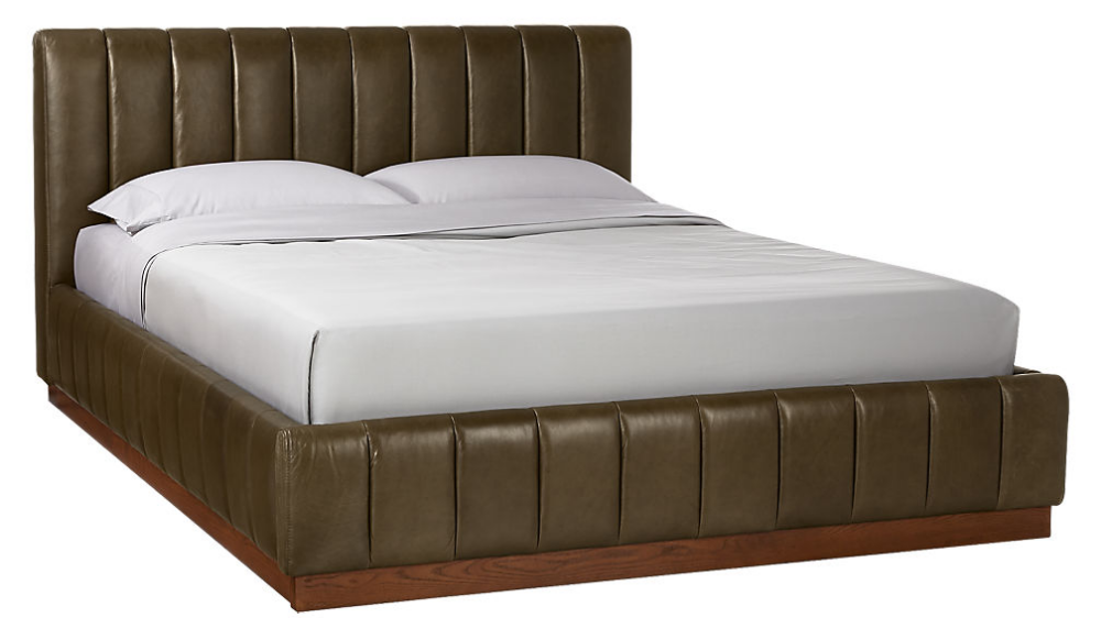 Forte Leather Bed Cb2 Leather King Beds Leather Bed King Beds