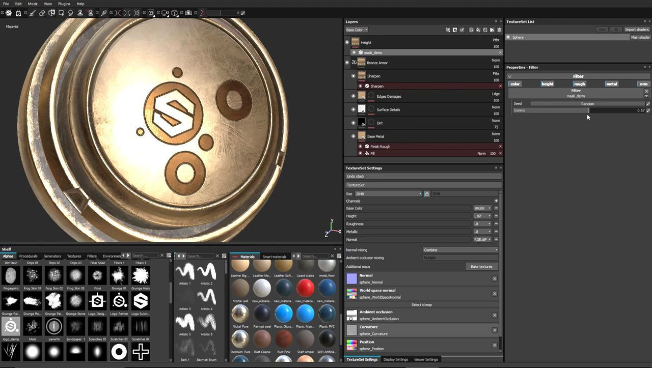 Creating a Basic Substance Painter Filter, texturing