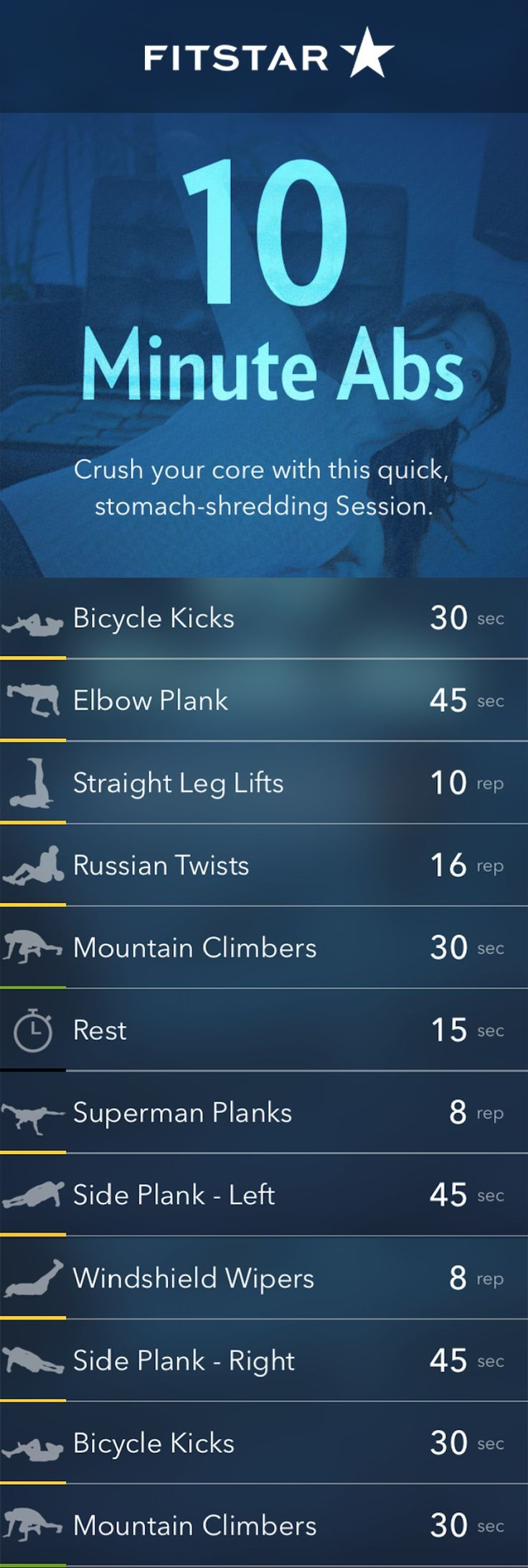 A 10 Minute Ab Workout from Fitstar to Rock Your Core