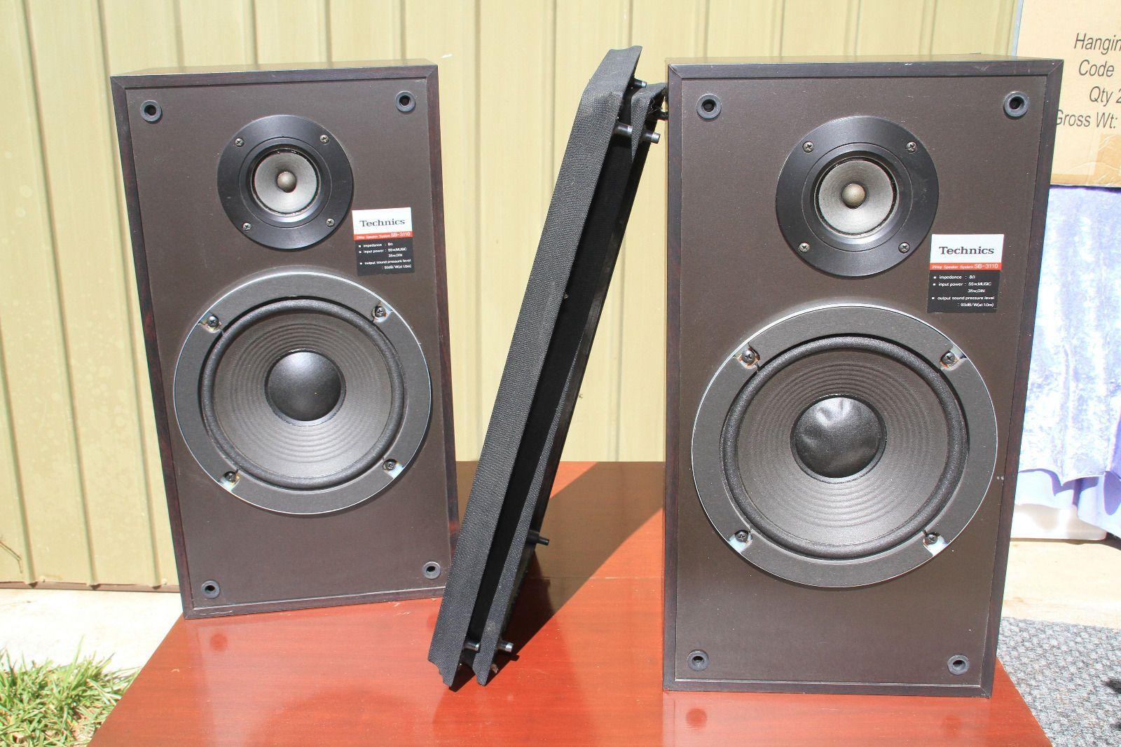 vintage technics speakers. vintage technics sb-3110 2-way 8 ohm 55w stereo bookshelf speakers - i