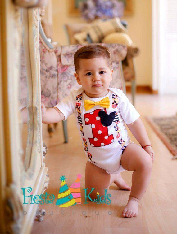 4e3c713b50de6 MiCKEY MOUSE birthday outfit  boys  mickeymouse  1stbirthday  firstbirthday