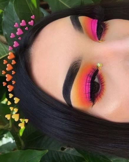 49 Trendy Eye Shadow Colorful Eyebrows Eye Artistry Makeup
