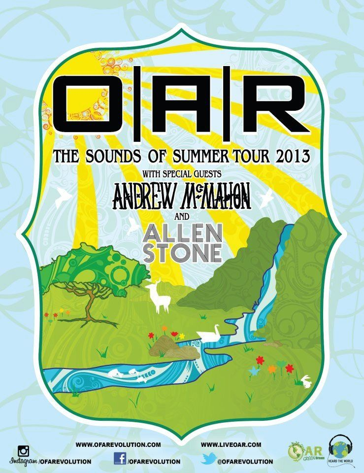 O A R Of A Revolution Sounds Of Summer Tour With Andrew