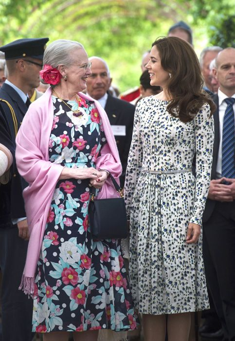 beautiful crown princess mary with queen margarethe