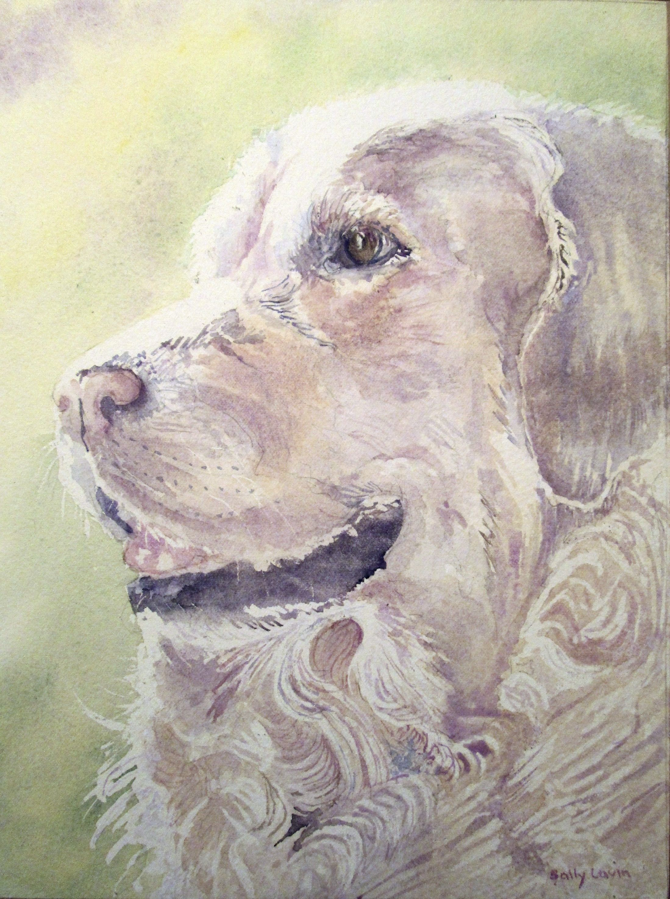 Original Watercolor Golden Retriever Painting Dog Painting Dog