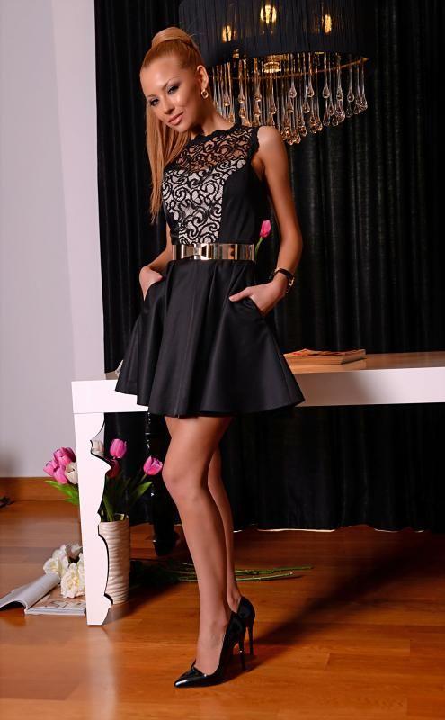 66cda432aee Къса черна рокля с дантела | Онлайн маркови дамски дрехи, мъжки дрехи и  дамски обувки. Online магазин за маркови рокли, блузи, ризи.