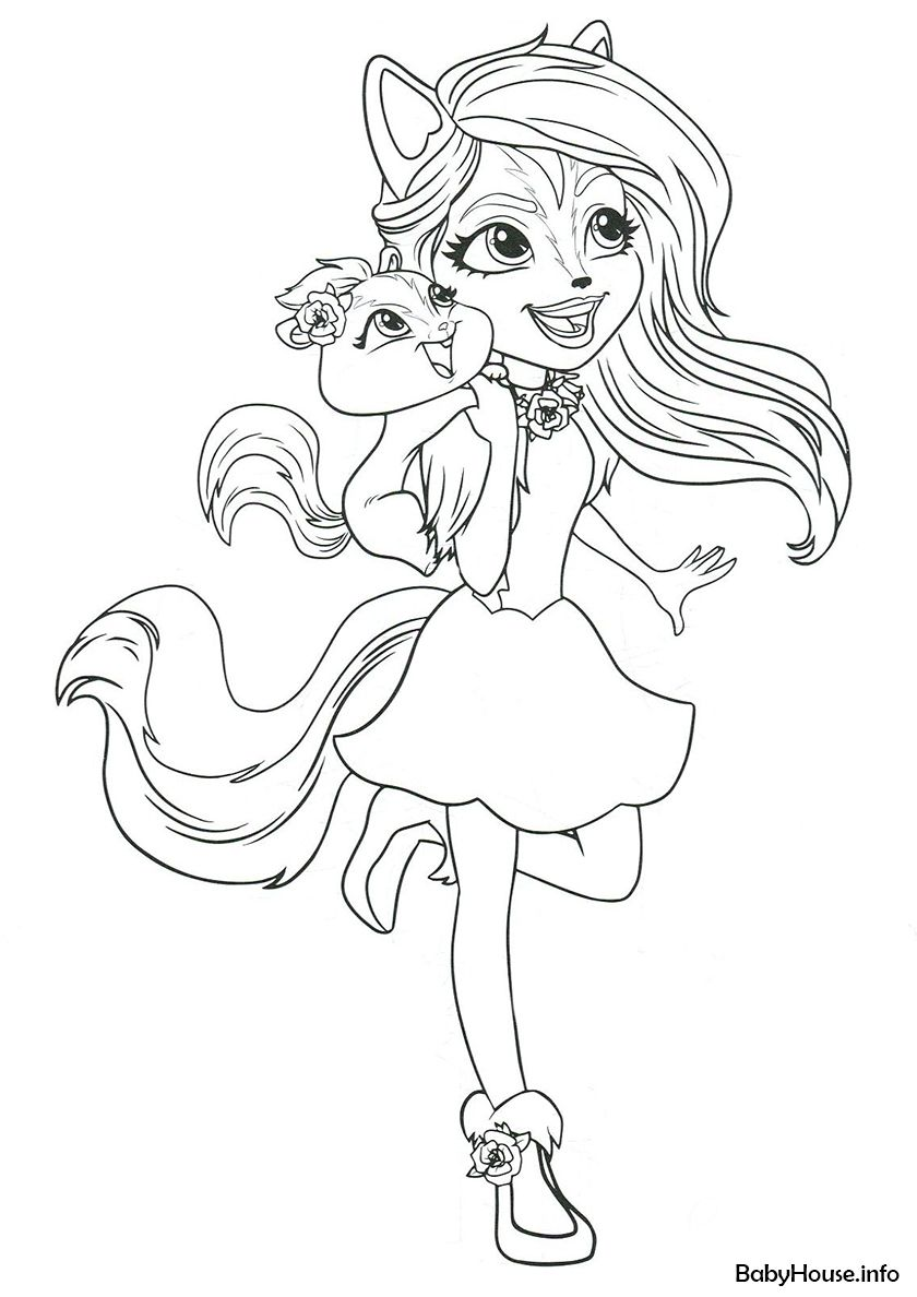 Sage Skunk And Caper High Quality Free Coloring From The Category Enchantimals More Printable Pictur Poppy Coloring Page Cute Coloring Pages Coloring Pages