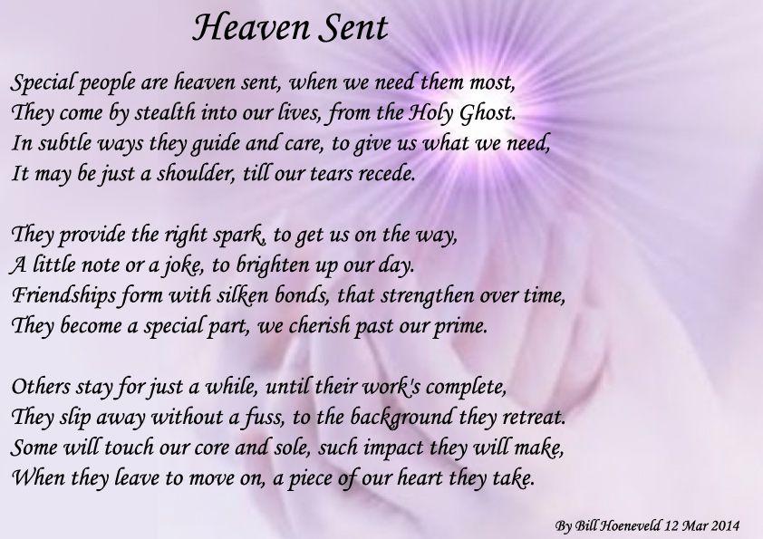 Heaven Sent - Spiritual Poetry | poem's | Family poems