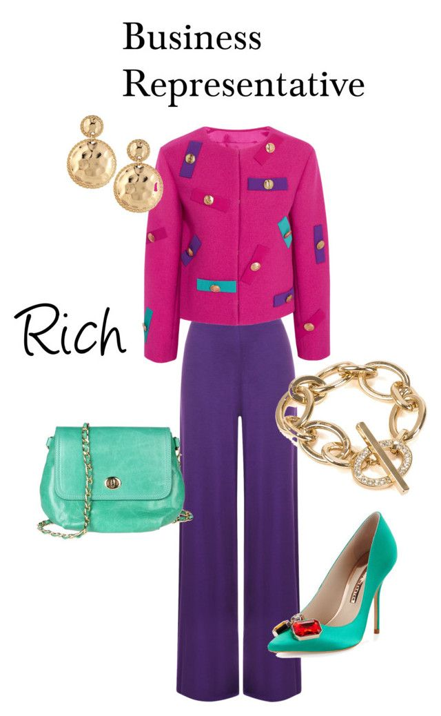 Business Representative by natalia-minnigalimova on Polyvore featuring мода, Boutique Moschino, WearAll, Sophia Webster, Rowallan, NLY Accessories and Kenneth Jay Lane