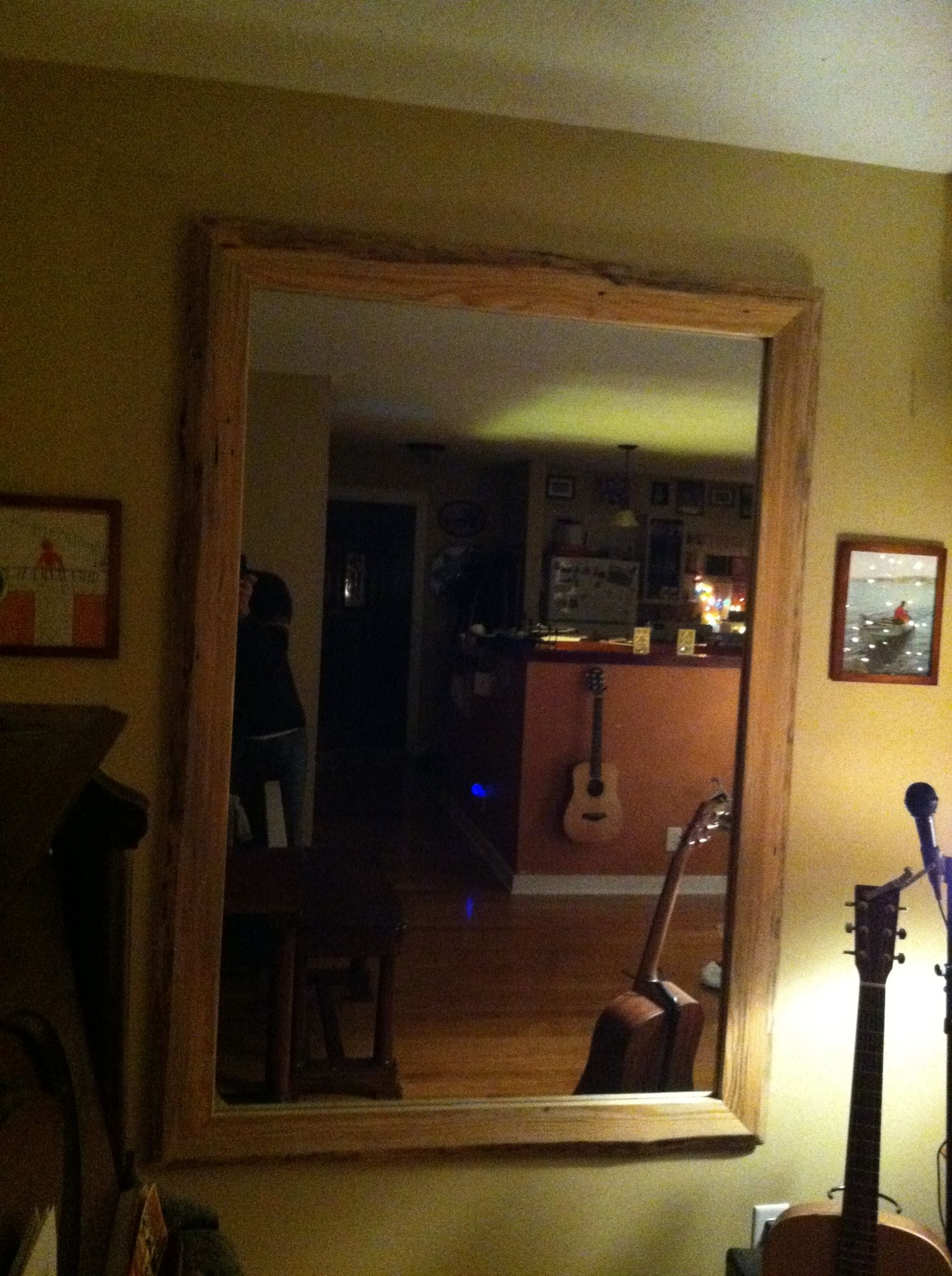 Rustic Red Pine Frame Wred Around A 40 X 60 Mirror