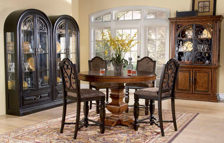 Old World Tuscan Decor Furniture Counter Height Dining