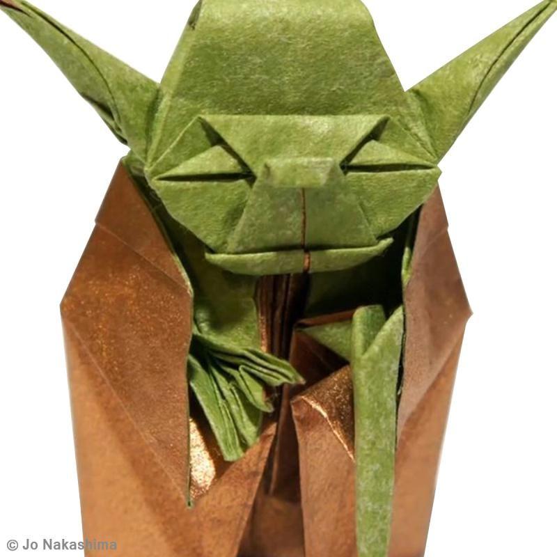 diy star wars yoda en origami id es conseils et tuto origami star wars yoda creavea et. Black Bedroom Furniture Sets. Home Design Ideas