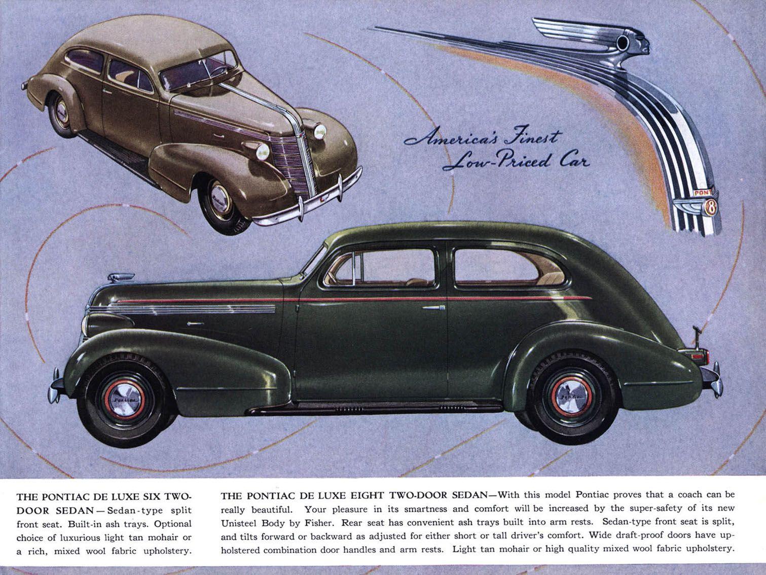 1937 Pontiac 2 door sedan | Pontiac ..car brochures | Pinterest ...
