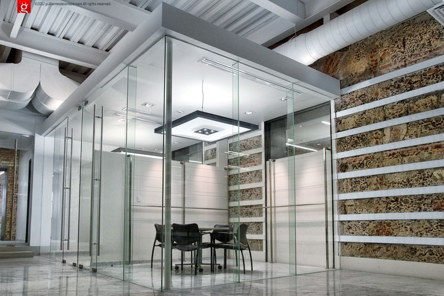 Glass Enclosed Conference Room
